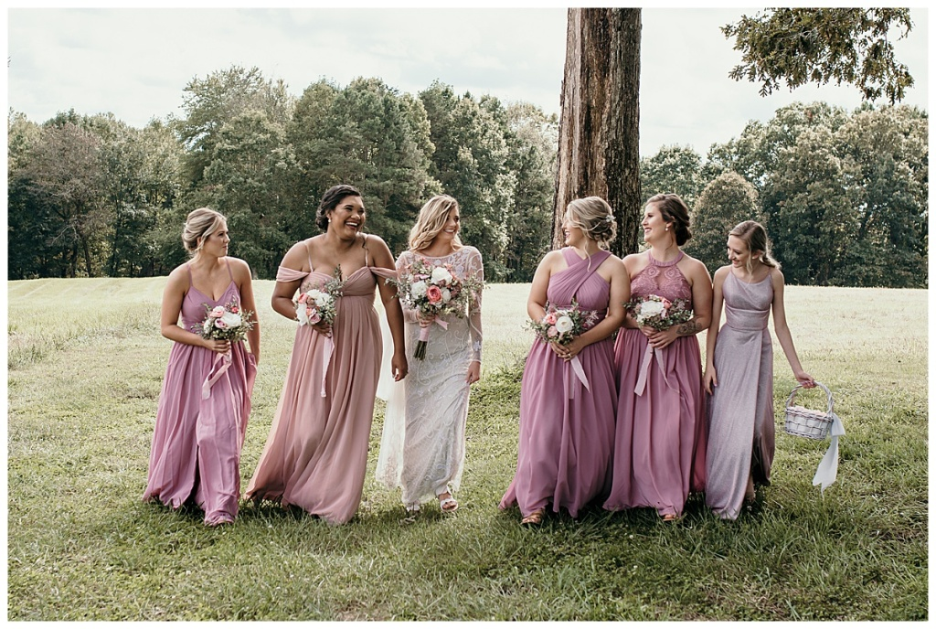 Bridal party in Hiddenite, NC